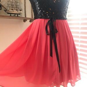 MyMichelle Dresses  Pink & Black strapless  Size:9